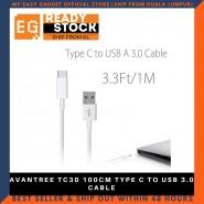 AVANTREE TC30 100CM TYPE C TO USB 3.0 CABLE