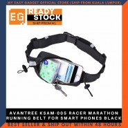 AVANTREE KSAM-005 RACER MARATHON RUNNING BELT FOR SMART PHONES BLACK