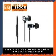 AVANTREE LOYA ADHF-015-BLG METAL BASS EARPHONES W/ MIC
