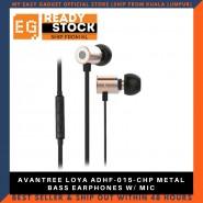 AVANTREE LOYA ADHF-015-CHP METAL BASS EARPHONES W/ MIC