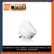 AVANTREE CGTR-TR601-C-UKD UNIVERSAL USB 1A TRAVEL CHARGER