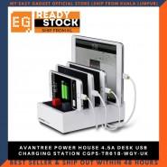 AVANTREE POWER HOUSE 4.5A DESK USB CHARGING STATION CGPS-TR618-WGY-UK