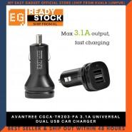AVANTREE CGCA-TR203-FA 3.1A UNIVERSAL DUAL USB CAR CHARGER