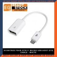 AVANTREE FDKB-OTG11 MICRO USB HOST OTG CABLE - WHITE