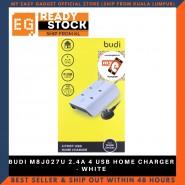 BUDI M8J027U 2.4A 4 USB HOME CHARGER - WHITE