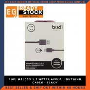 BUDI M8J023 1.2 METER APPLE LIGHTNING CABLE - BLACK
