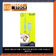 BUDI M8J010M 1 METER MICRO USB CABLE - WHITE