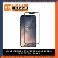 APPLE IPHONE X TEMPERED GLASS SCREEN PROTECTOR - BLACK