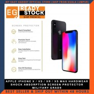 APPLE IPHONE X / XS / XR / XS MAX HARDWEAR SHOCK ABSORPTION SCREEN PROTECTOR MILITARY GRADE