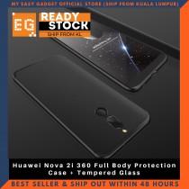 Huawei Nova 2i 360 Full Body Protection Case + Tempered Glass