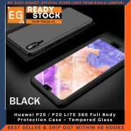 Huawei P20 / P20 LITE 360 Full Body Protection Case + Tempered Glass