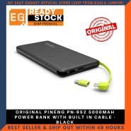 ORIGINAL PINENG PN-952 5000MAH POWER BANK WITH BUILT IN CABLE - BLACK