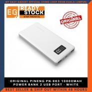 ORIGINAL PINENG PN-963 10000MAH POWER BANK 2 USB PORT - WHITE
