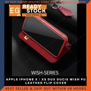 APPLE IPHONE X / XS DUX DUCIS WISH PU LEATHER FLIP COVER