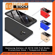 Samsung Galaxy J4 2018 360 Full Body Protection Case + Tempered Glass