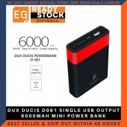 DUX DUCIS D061 SINGLE USB OUTPUT 6000MAH MINI POWER BANK