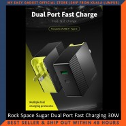 Rock Space Sugar Dual Port Fast Charging Travel Charger 30W