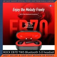ROCK EB70 TWS Bluetooth 5.0 Wireless Stereo Bluetooth Headset