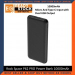 Rock Space P62 PRO Micro USB and Type-C Input With Dual USB Output Power Bank 10000mAh