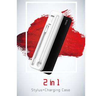 WiWU 2 in 1 Stylus + Wireless Charging Case Built-in 3000mAh Battery