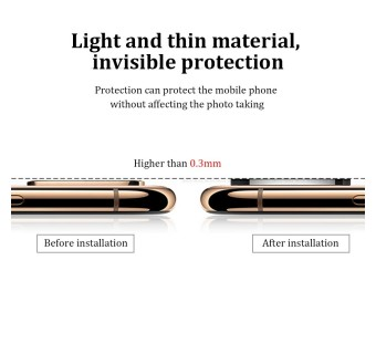 iPhone X/XS Lens Change Into 11 Pro Lens Metallic Glass Integrated Lens Cap - Black
